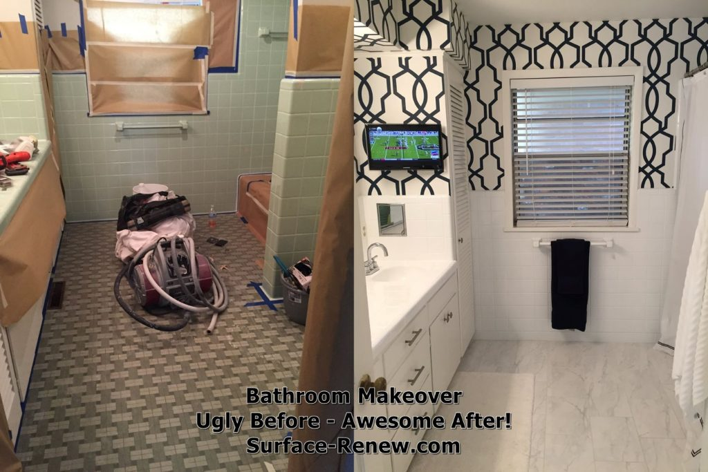 Bathroom Makeover awesome bathroom Before and After