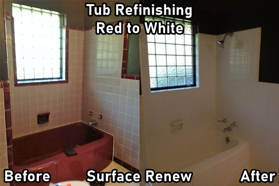 Bathtub Refinishing Maumelle Before and After Images