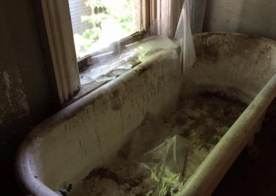 Mills Davis House BEFORE Claw Foot Tub Repair
