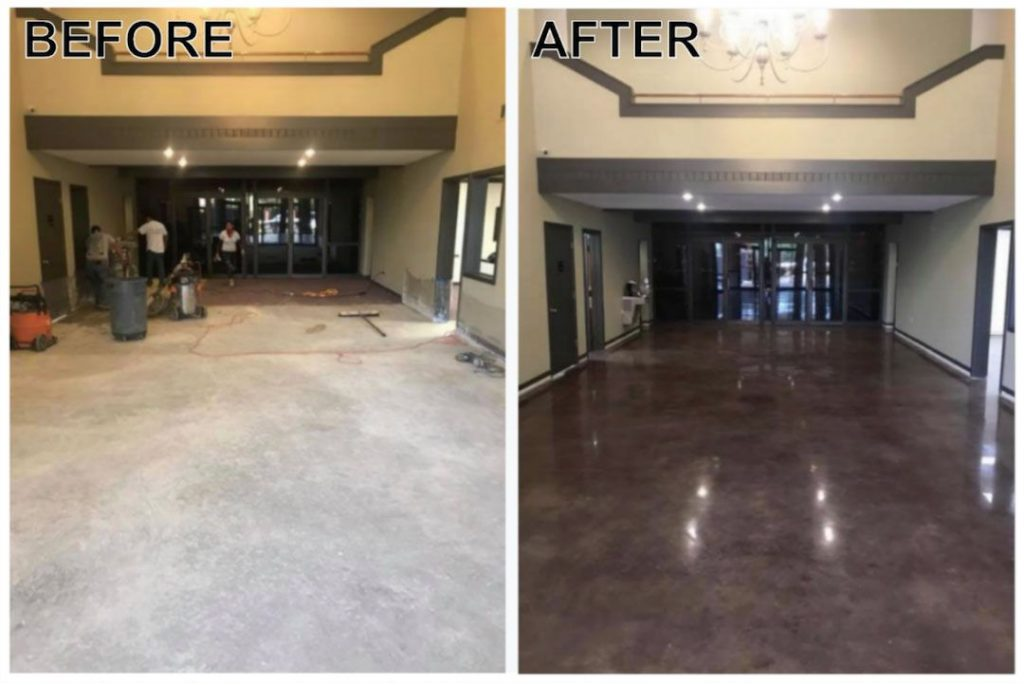 Concrete Polishing Little Rock Before Or After